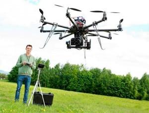 Drone de grabaciones aereas
